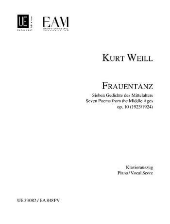 Frauentanz (Ladies' Dance) for voice and piano op. 10