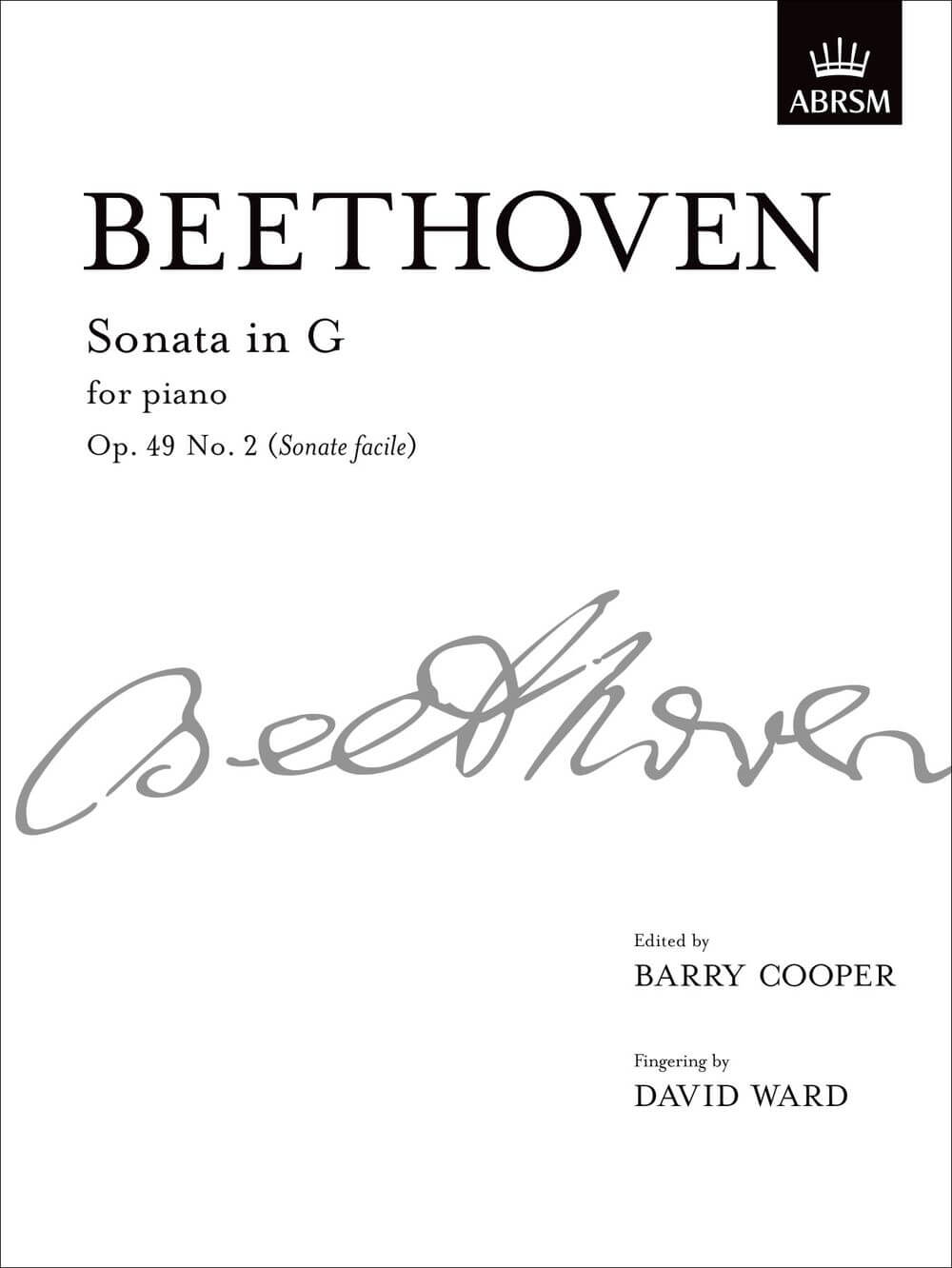 Sonata in G, Op. 49 No. 2 (Sonate facile)