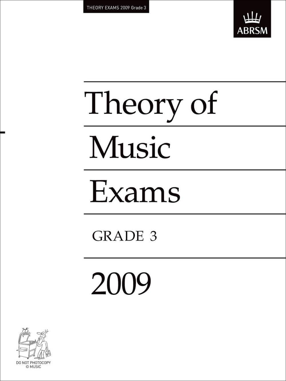 Theory of Music Exams, Grade 3, 2009