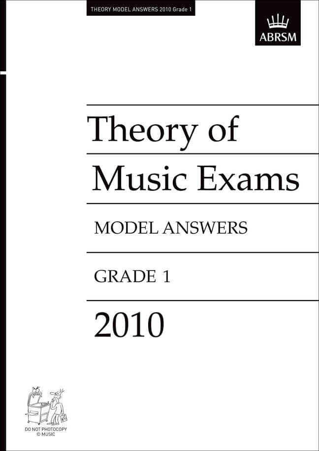 Theory of Music Exams 2010 Model Answers, Grade 1