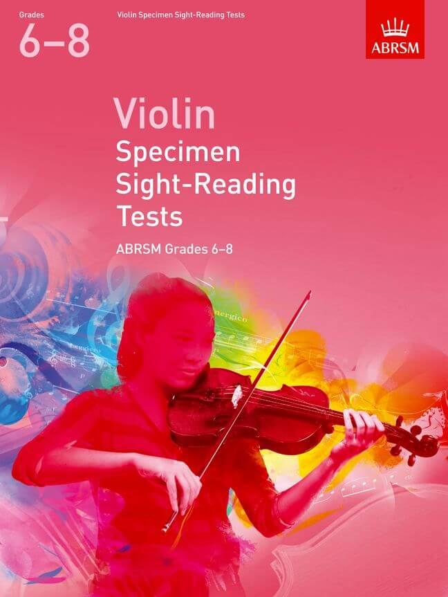 Violin Specimen Sight-Reading Tests,Grades 6-8
