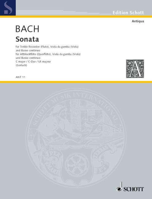 Sonata C major. rekonstruiert nach BWV 1027 und BWV 1039