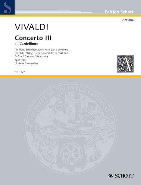 Concerto No. 3 D major op. 10/3 RV 428/PV 155. Il Cardellino