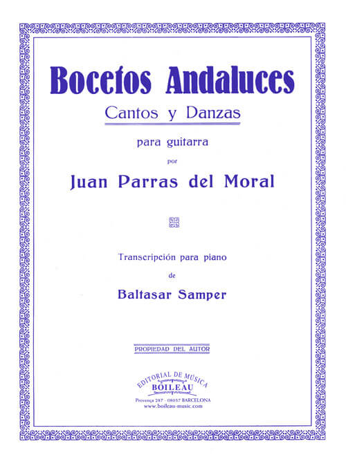 Bocetos andaluces, guitarra