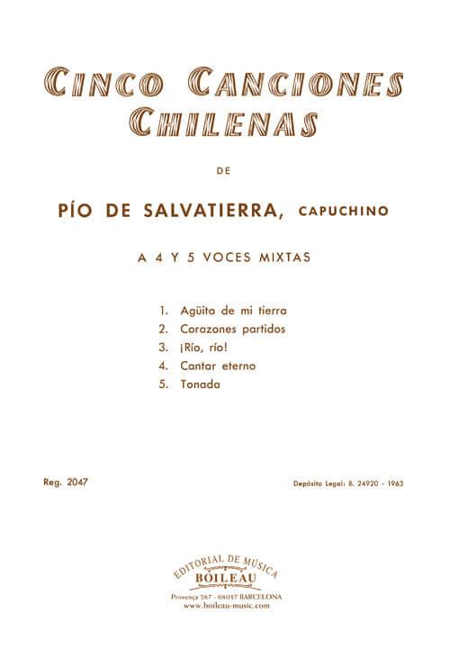 5 Canciones chilenas, 4,5 voces mixtas