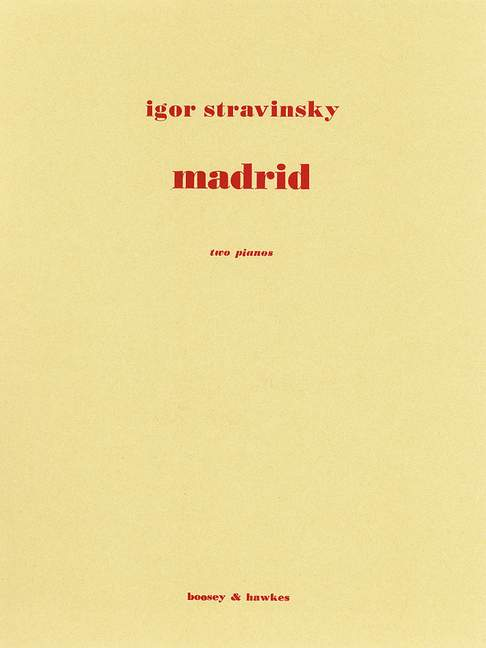 Madrid. from Four Studies for Orchestra 2 pianos  .Stravinsky