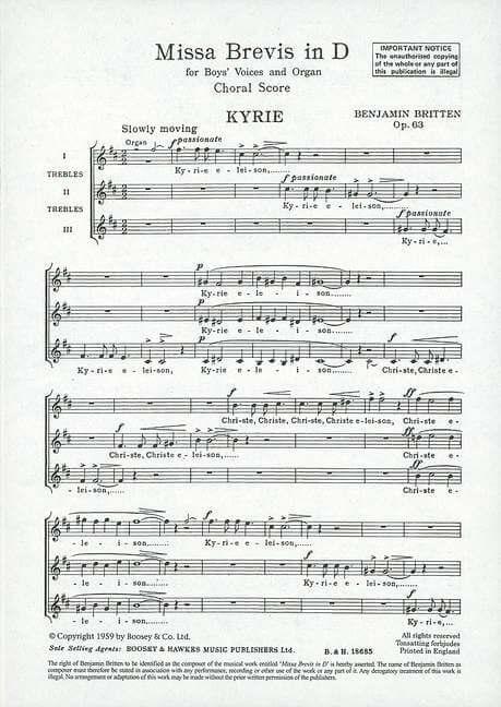 Missa Brevis in D op. 63