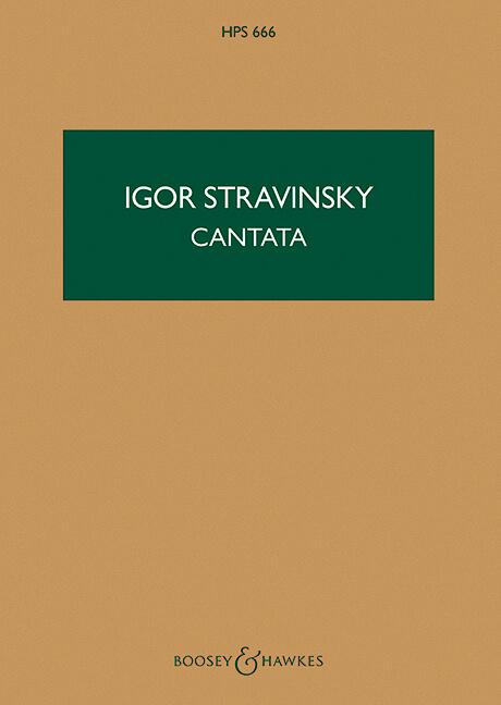 Cantata. Stravinsky. Bolsillo