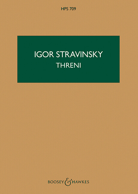 Threni. Stravinsky. Bolsillo