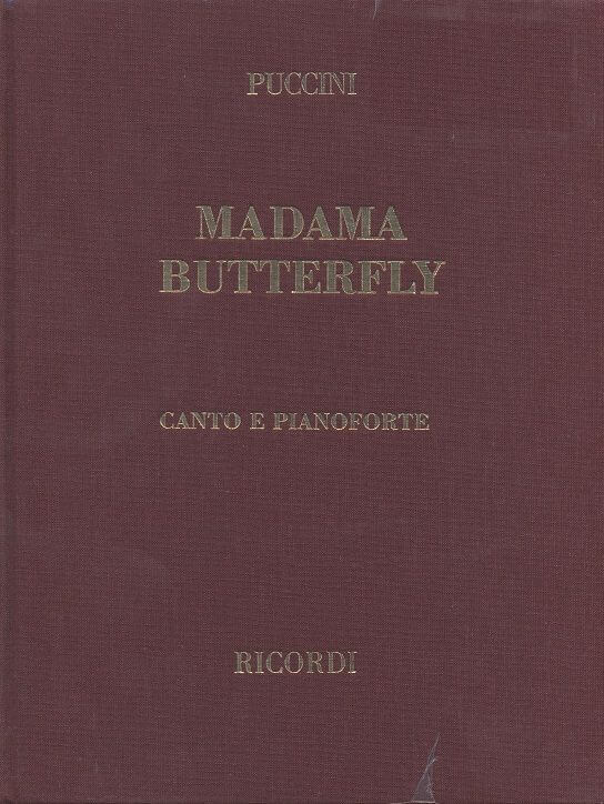 Madama Butterfly.vocal scoreTapa dura. Puccini