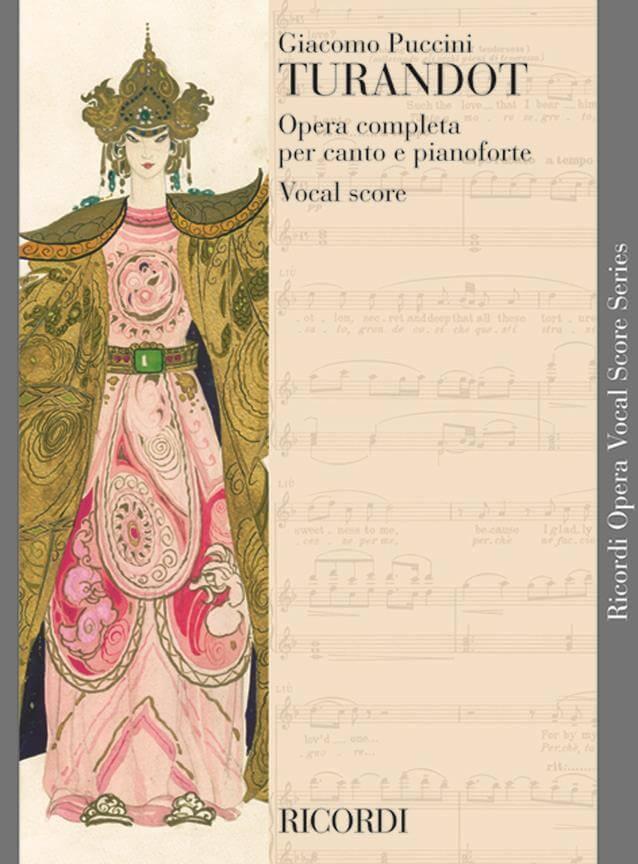 Turandot (Italiano) Vocal score. Puccini