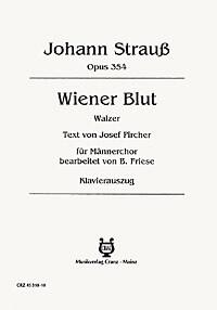 Geschichtenaus der Wiener Wald Op.325.  Coro TTBB. Johan Strauss Jr.