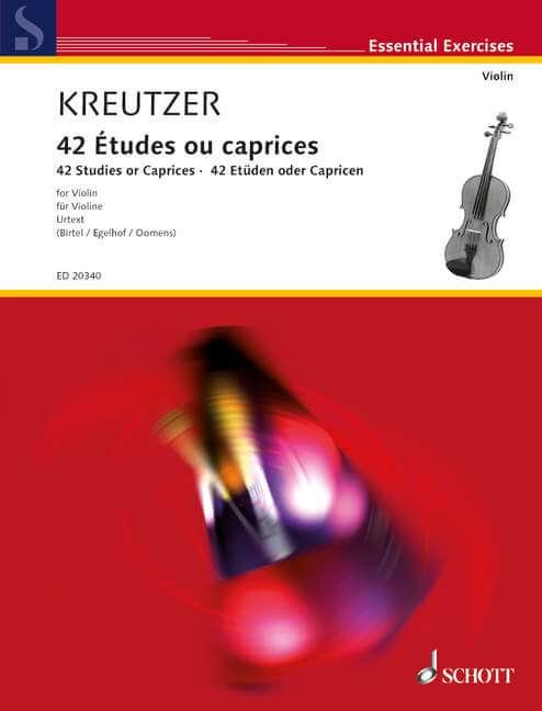 42 Études ou caprices.violin Kreutzer