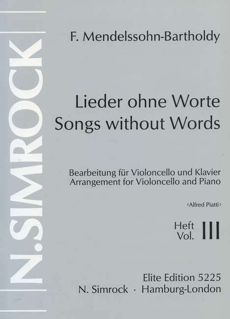 Songs without Words op. 62/67 Band 3.