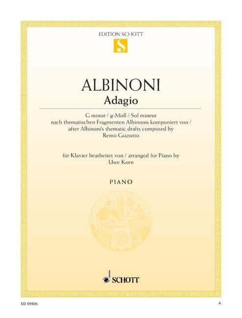 Adagio G Minor Piano .Albinoni