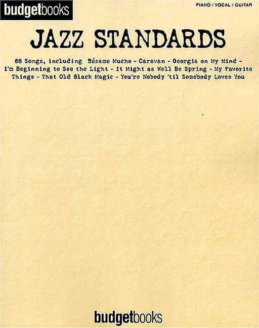 Budget Books Jazz Standards.