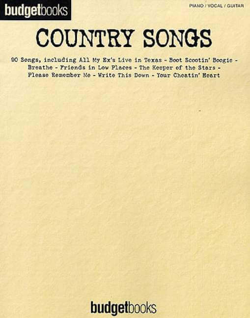 Budget Books Country Songs.