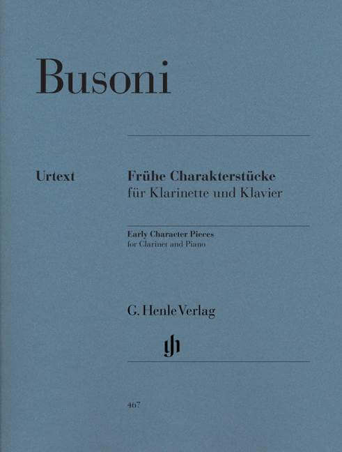 Early Character Pieces for Clarinet and  Piano (First Editio