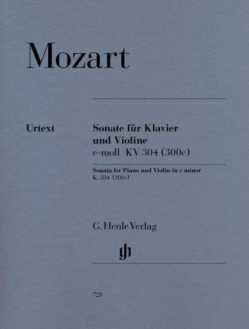 Violin Sonata in e minor K.304 (300c). Violín y piano