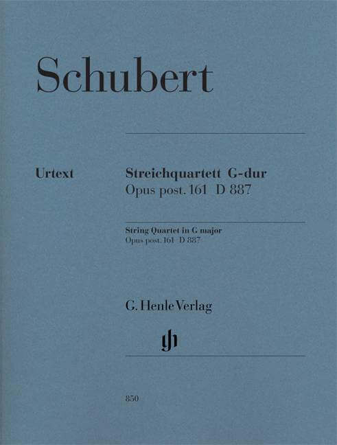 Streichquartett G-dur op. post. 161 D 887 Parts Schubert