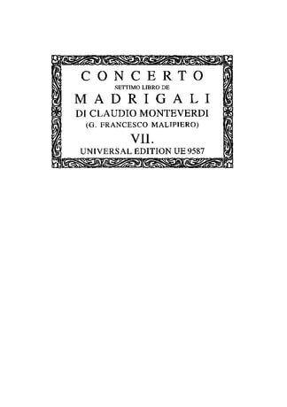 II settimo libro de Madrigali con altri generide Canti for 1