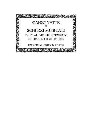 Canzonette e scherzi musicali for 3 voices (choir ad lib.),