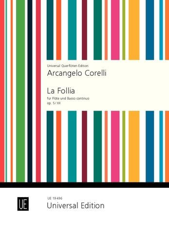 La Follia for flute and basso continuo op. 5/12