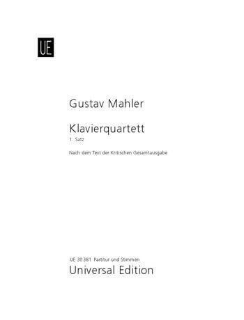 Piano Quartet - A minor for violin, viola, cello and piano