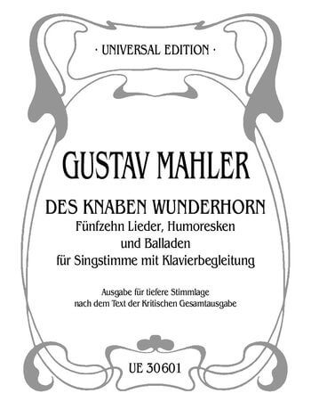 MAHLER 15 SONGS HUMORESKES L.Vce Pft