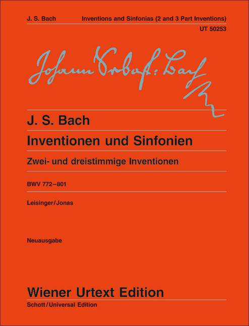Inventions and Symphonies BWV 772 - 801 Piano .Bach