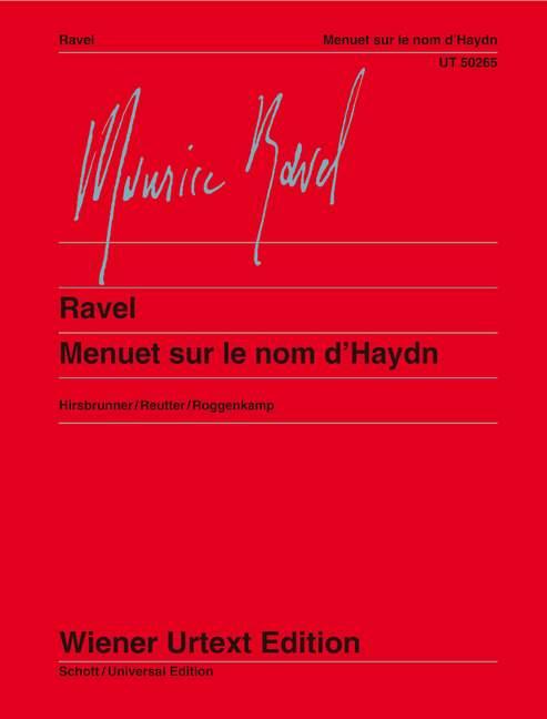 Menuet sur le nom d'Haydn Piano  .Ravel