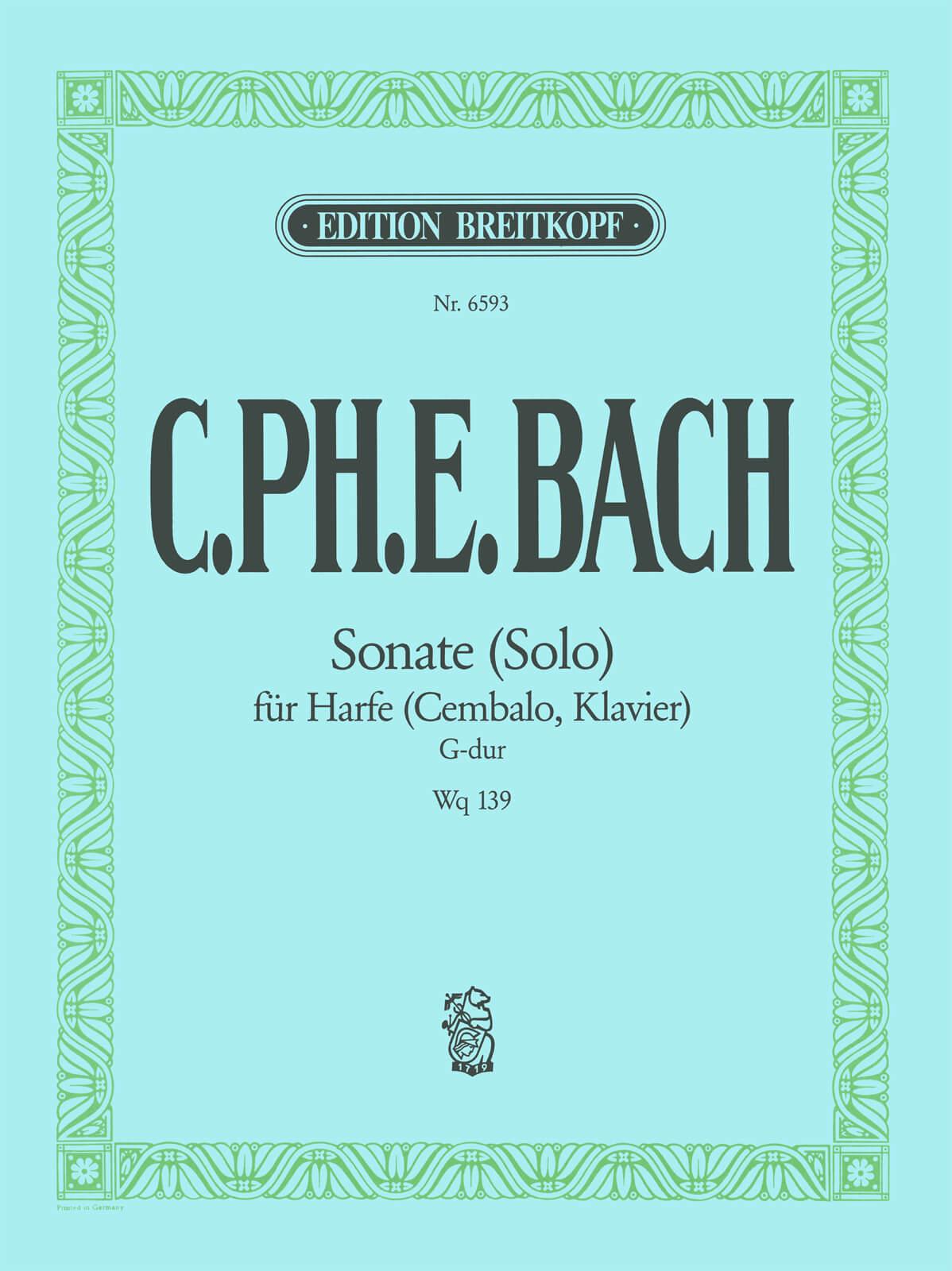 Sonate (Solo) Wq 139
