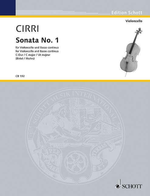 Sonata No.1 in C major for cello and piano. Cirri