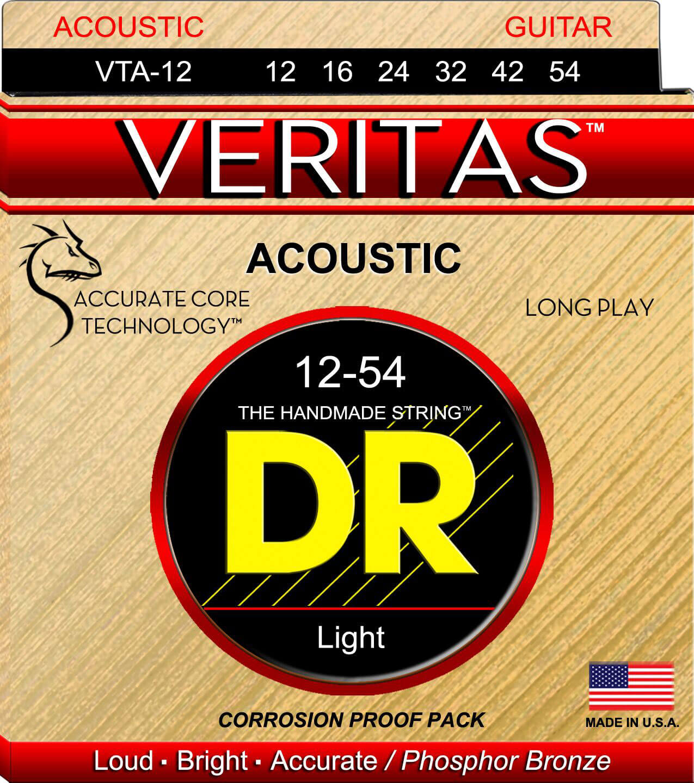 Jgo.Cuerdas Guitarra Acústica Dr Vta-12 Veritas 12-54