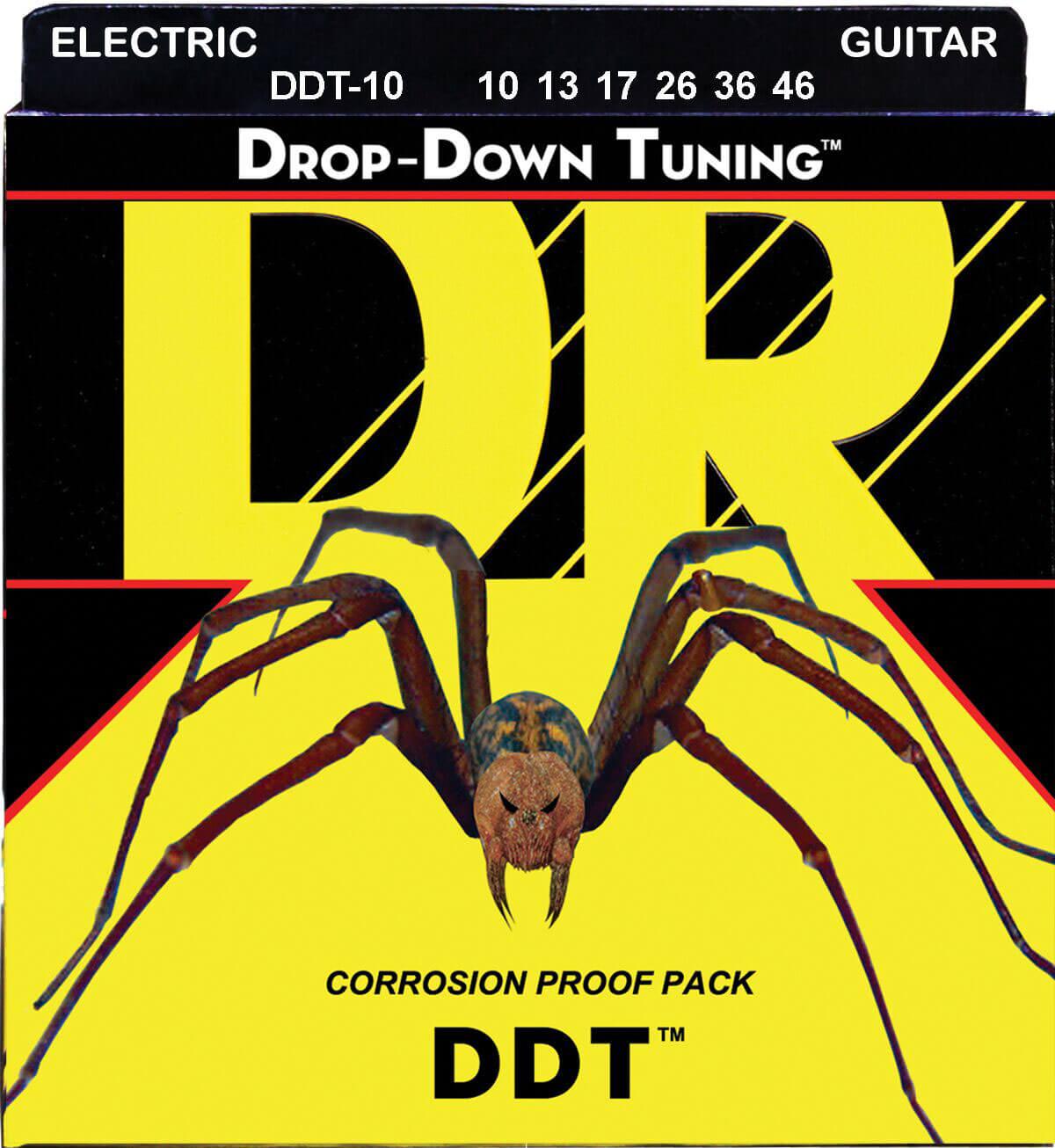 Jgo.Cuerdas Guitarra Eléctrica Dr Ddt-10 Drop Down 10-46