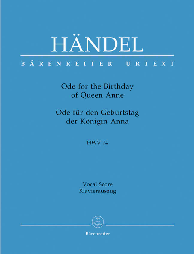 Ode for the Birthday of Queen Anne HWV74 'Friedensode'.
