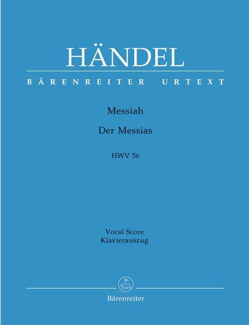 Messias HWV56 vocal score .Haendel