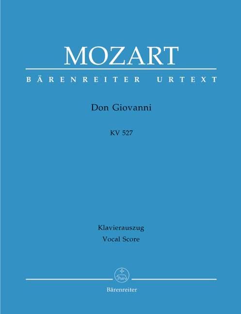 Don Giovanni KV527 Vocal score Mozart