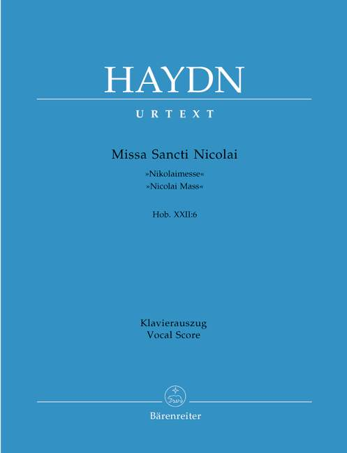 Missa Sancti Nicolai Hob.XXII:6 'Nicolai Mass'.
