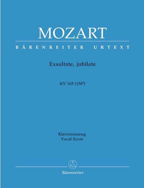 Exsultate, jubilate KV165 (158a). Reducción Voz y piano. Mozart