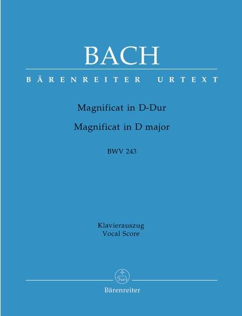 Magnificat D major BWV243 vocal score .Bach