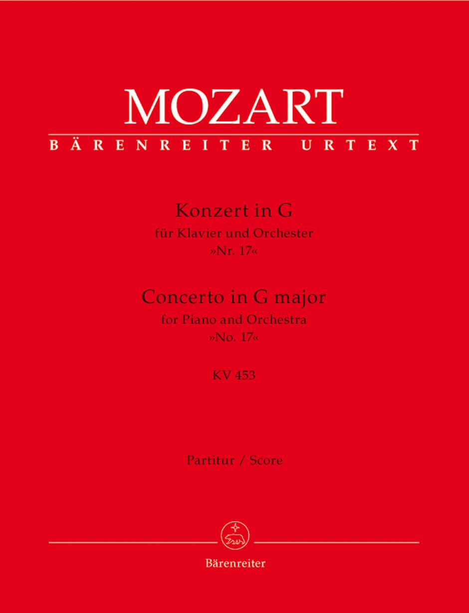 Concerto for Piano and Orchestra No. 17 G major KV453 full Score  .Mozart