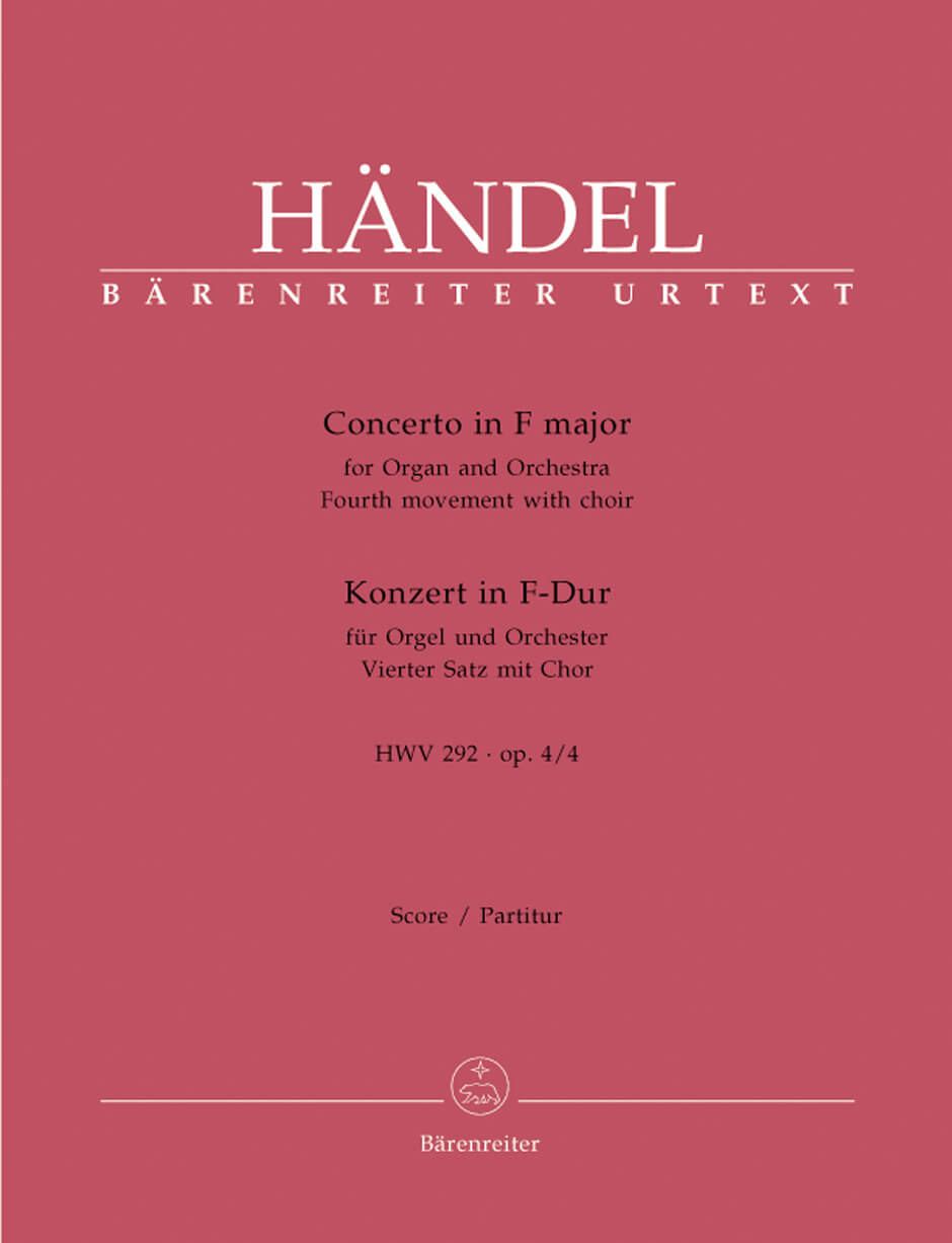 Concerto for Organ and Orchestra F major Op.4/4 HWV292