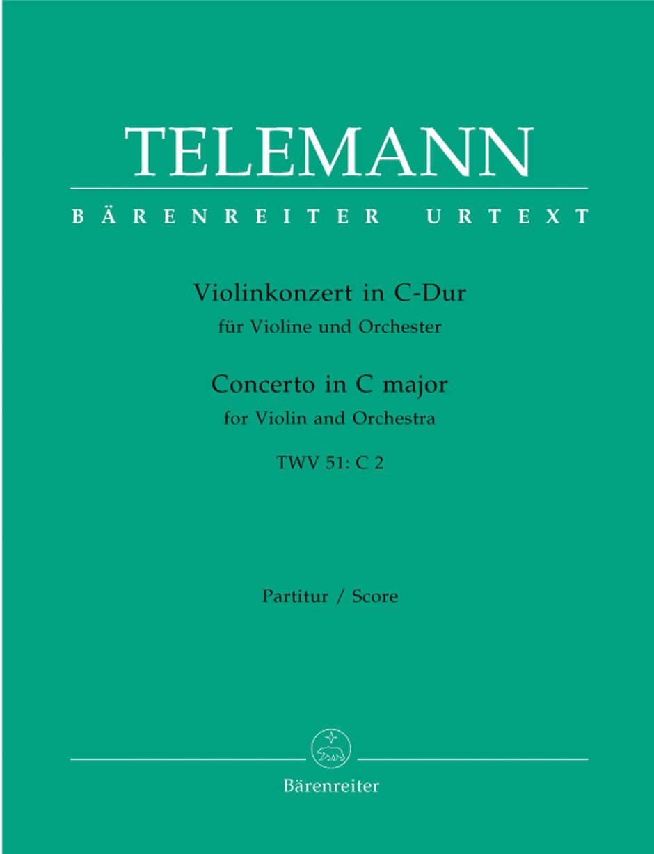 Concerto for Violin and Orchestra C major TWV 51:C2