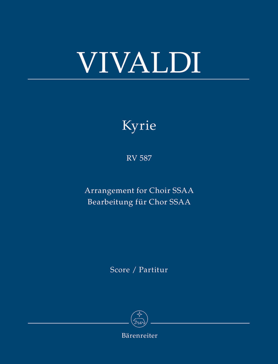 Kyrie RV 587 Full Score  . Vivaldi