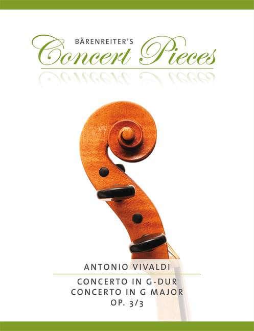 Concerto G major Op.3/3. Reducción Violín y piano Vivaldi