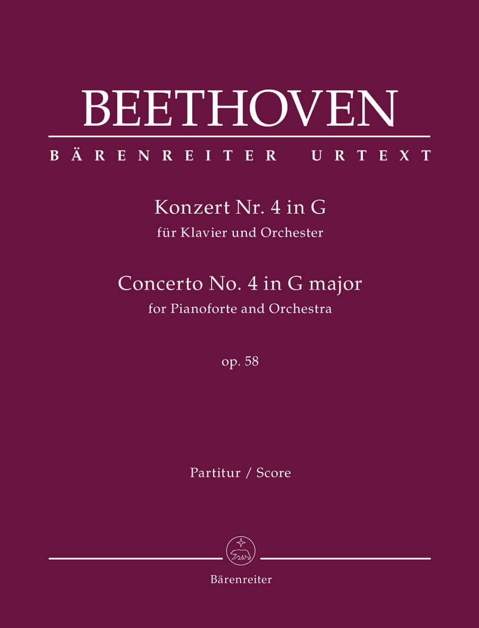 Concerto piano Orchestra Nr. 4 G major Op.58 Full Score .Beethoven