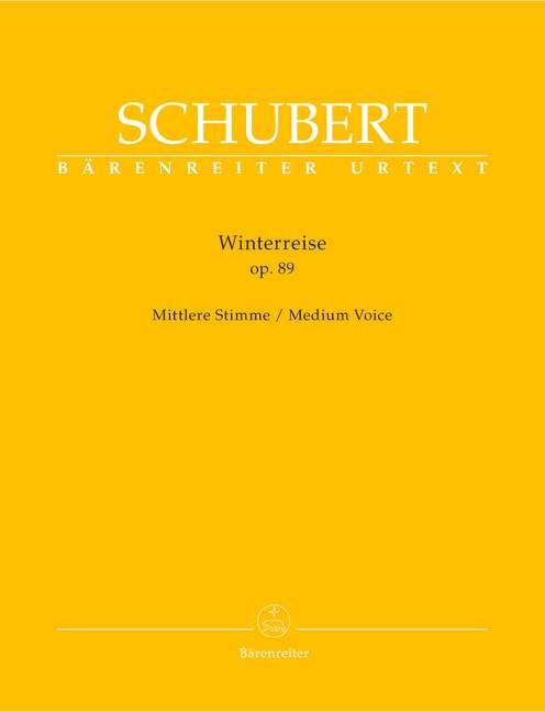 Winterreise Op.89 D911 vocal score .Schubert
