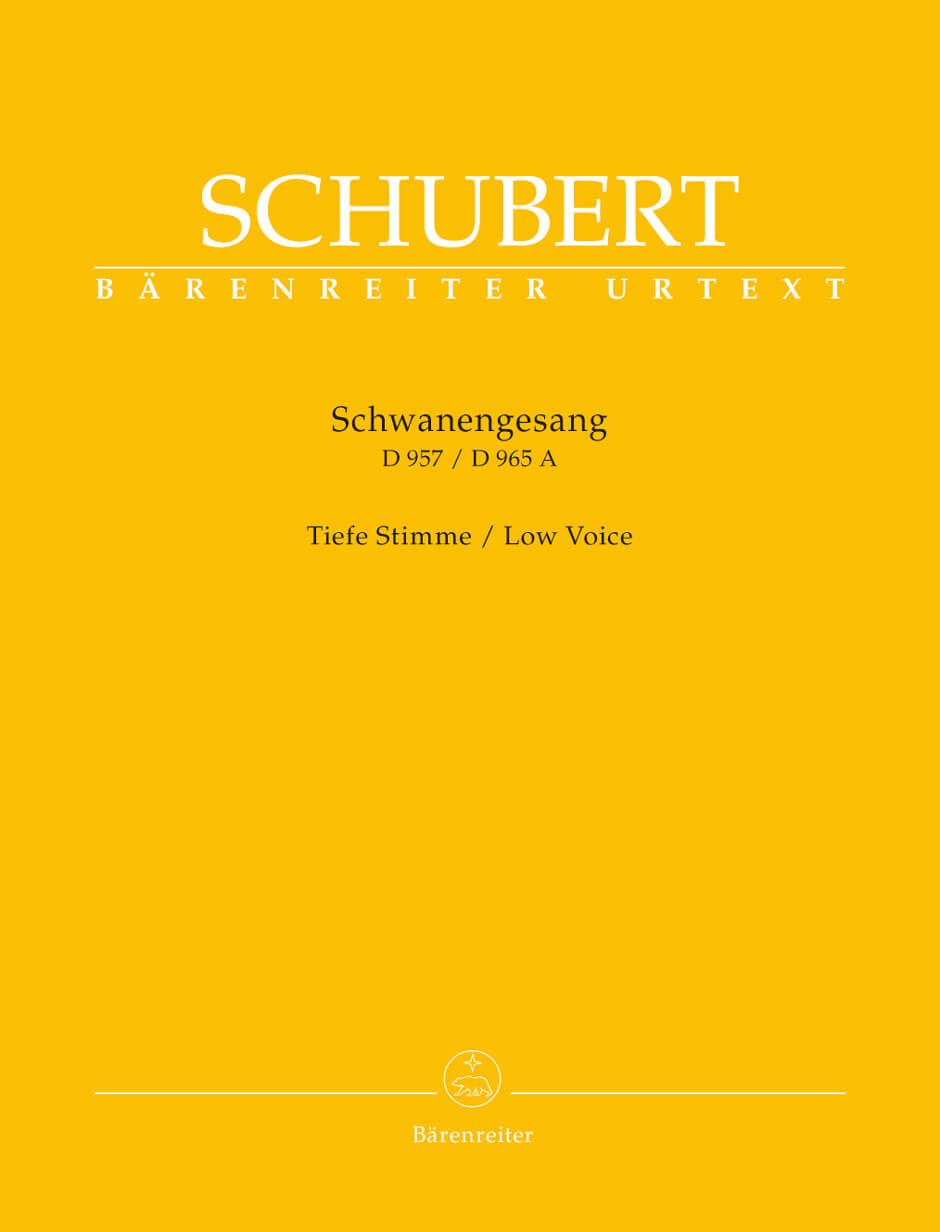 Schwanengesang. Thirteen lieder on poems by Rellstab and Hei