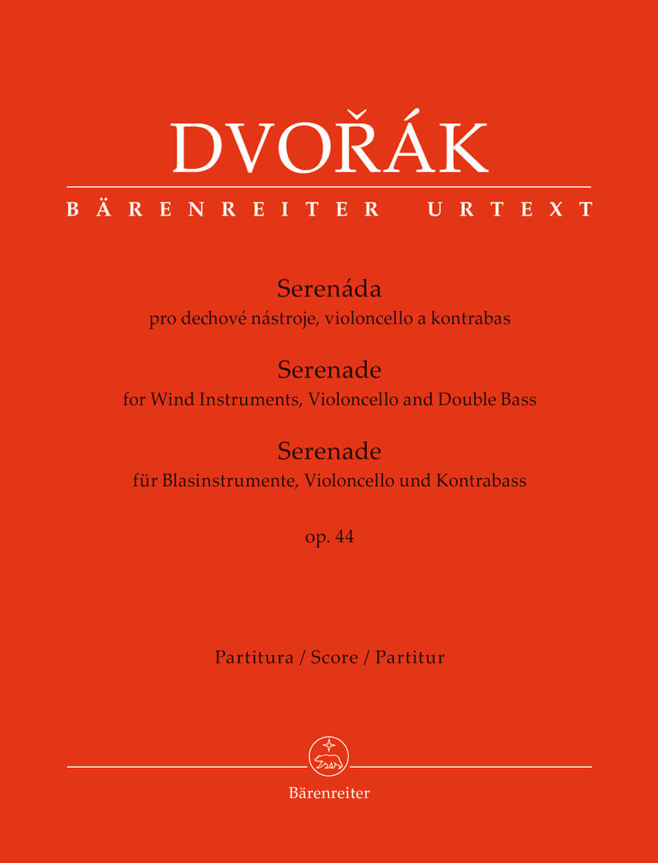 Serenade for Wind Instruments, Violoncello - Double Bass Full Score .Dvorak